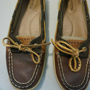 Sperry Top-Sider Angelfish brown leather boat shoe